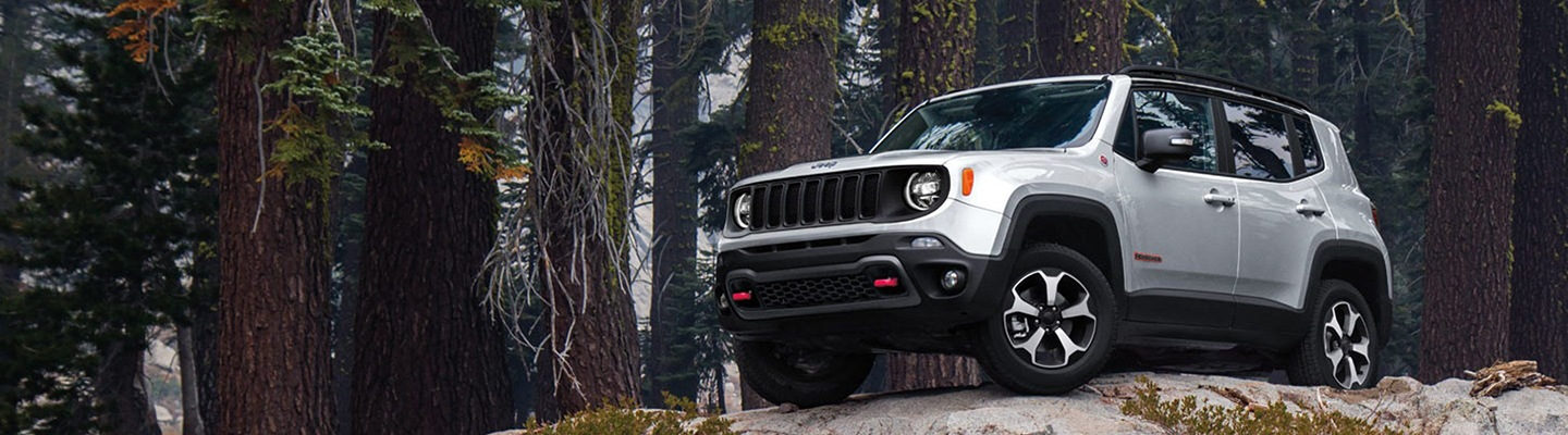 2020 Jeep Renegade on a hill.