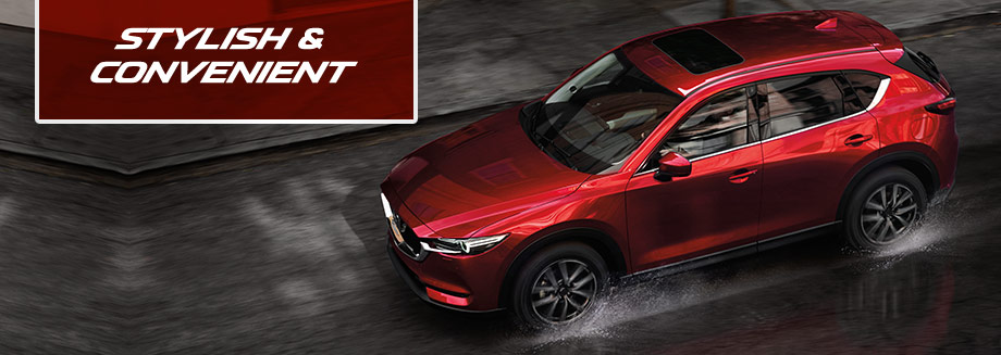 Safety features and interior of the 2018 Mazda CX-5 available at Bob Moore Mazda in Oklahoma City, OK and near Yukon