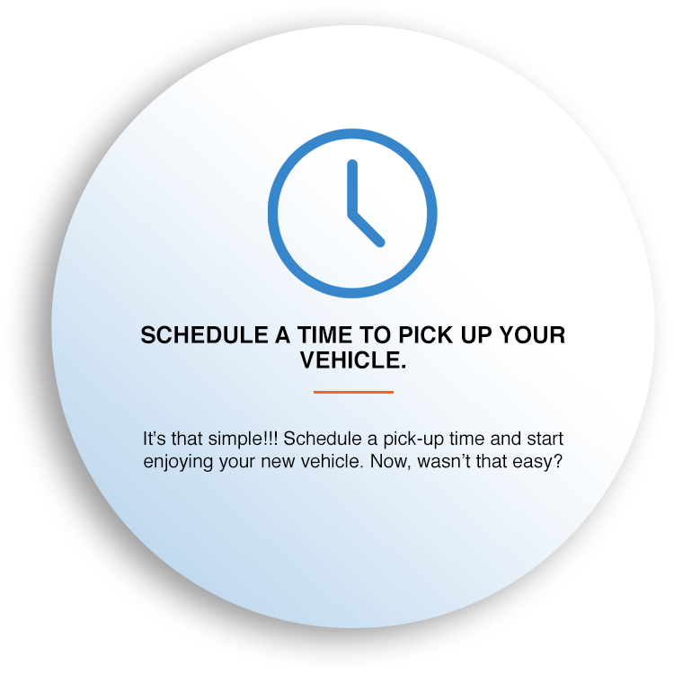 SCHEDULE A TIME TO PICK UP YOUR VEHICLE.