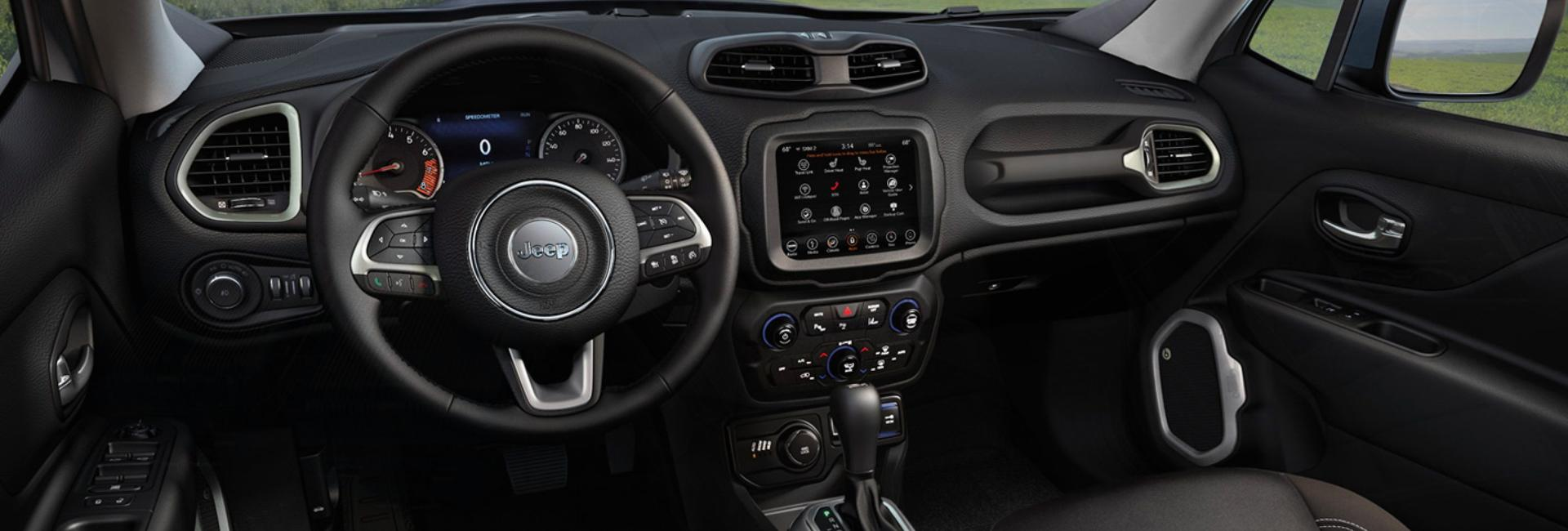 Picture of the interior of the 2020 Jeep Renegade.