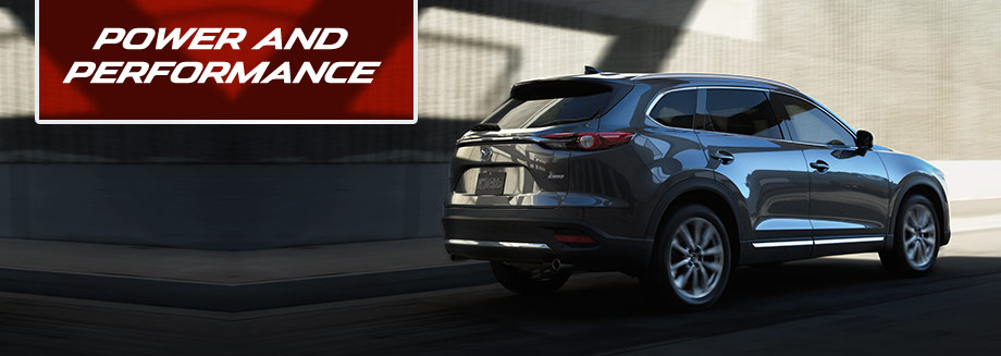 Exterior of the Mazda CX-9 at Bob Moore Mazda in Oklahoma City, Oklahoma