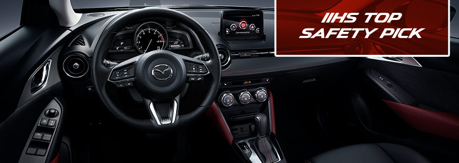 Safety features and interior of the 2018 Mazda CX-9 available at Bob Moore Mazda in Oklahoma City, Oklahoma