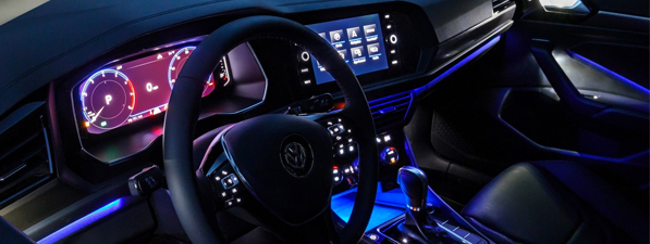 Safety features and interior of the 2018 Volkswagen Jetta is available at Southern Greenbrier Volkswagen near Chesapeake, VA