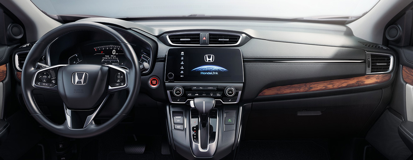 Safety features and interior of the 2019 Honda CR-V - available at our Honda dealership near Miami.