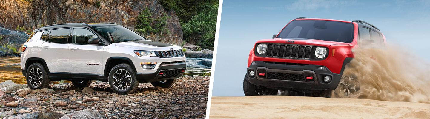 Picture of the Jeep Renegade and Jeep Compass