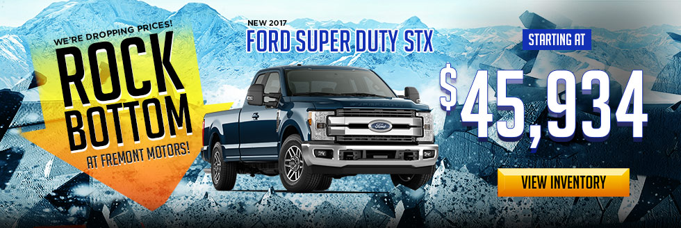 Rock Bottom Prices At All Fremont Ford Locations Fremont