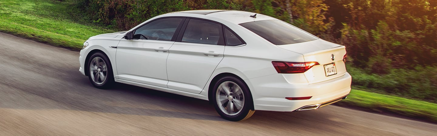 Side view of an overview of the 2020 Volkswagen Jetta