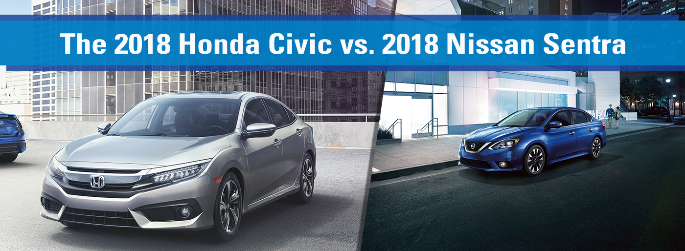 The 2018 Honda Civic Vs The 2018 Nissan Sentra is available at Honda of Fort Myers in Fort Myers, FL