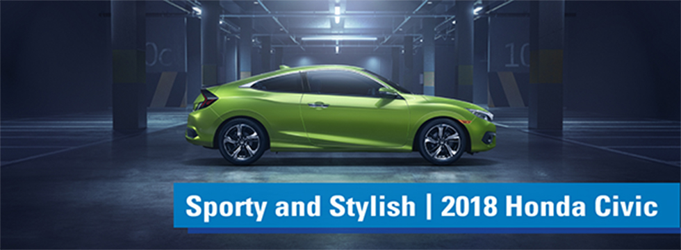 Exterior of the 2018 Honda Civic at Honda of Fort Myers near Cape Coral, FL