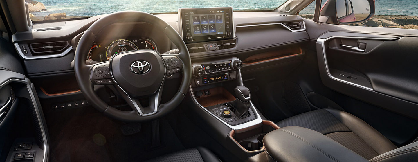 Safety features and interior of the 2019 Toyota RAV4 - available at our Toyota dealership Lake City