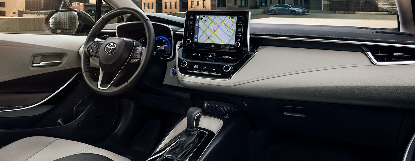 Safety features and interior of the 2020 Toyota Corolla - available at our Toyota dealership in Columbus, GA.
