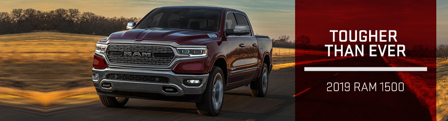 Exterior of the 2019 RAM 1500 at Bob Moore Chrysler Dodge Jeep RAM near Edmond, OK