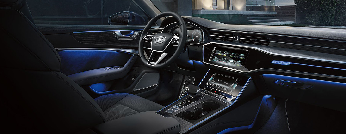 Safety features and interior of the 2019 Audi A6 - available at our Audi dealership near Oklahoma City, OK.