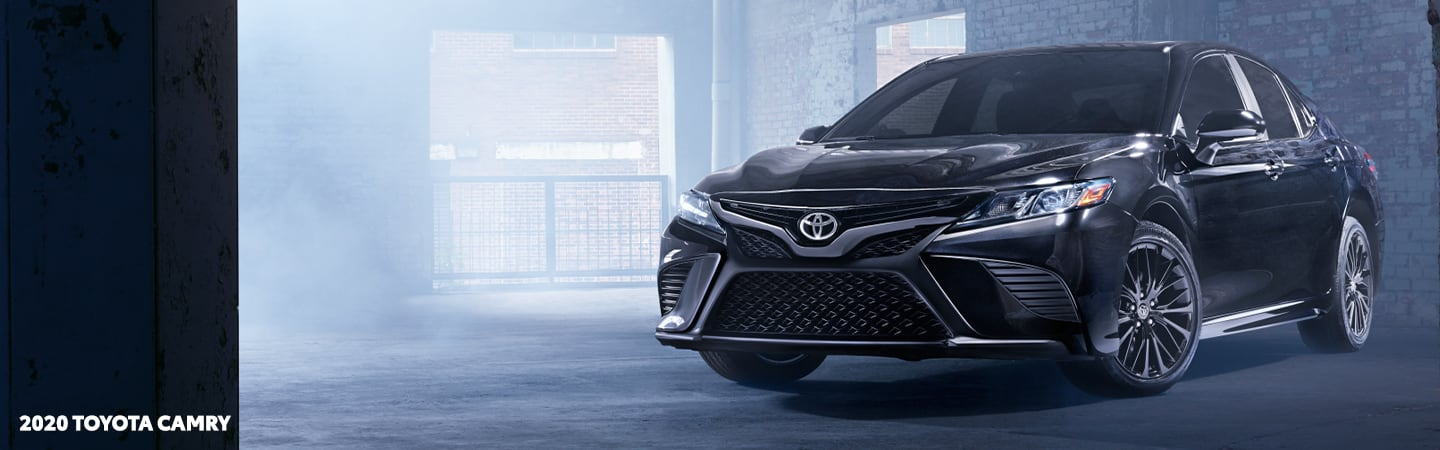 Black 2020 Toyota Camry parked