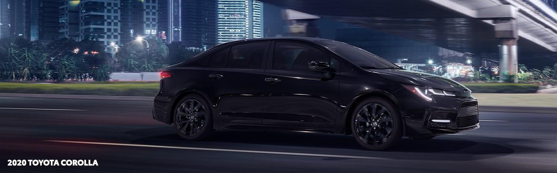 Black 2020 Toyota Corolla in motion