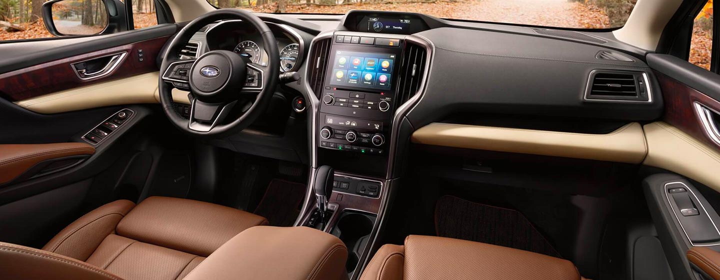 Interior and safety features of the 2019 Subaru Ascent at our Subaru Dealer in Columbus, GA.