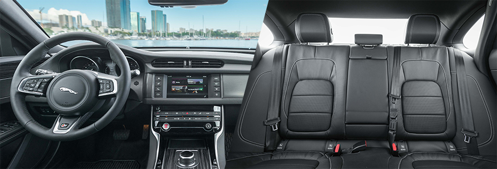 Safety features and interior of the 2018 Jaguar XF - available at Jaguar Honolulu in Honolulu, HI