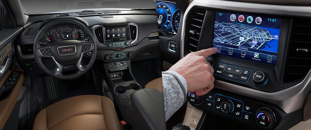 Safety features and interior of the 2018 GMC Acadia and GMC Terrain - available at Rivertown Buick GMC in Columbus, GA