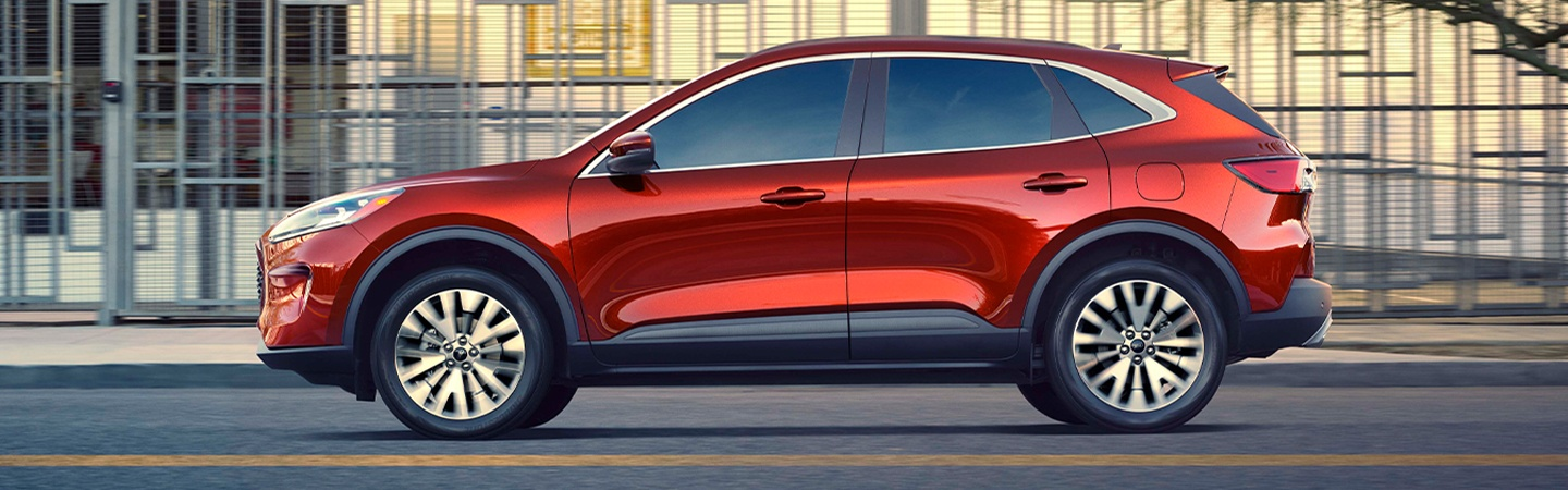 Red 2020 Ford Escape in motion