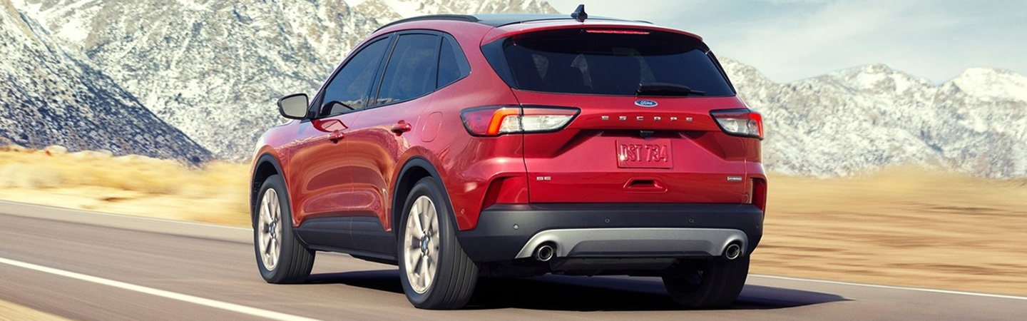Rear view of the 2020 Ford Escape