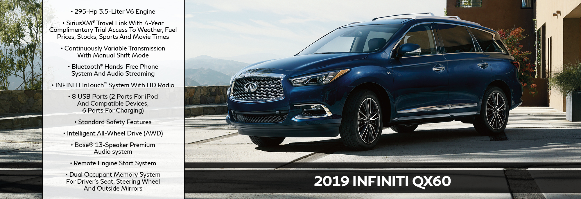 New 2019 INFINITI QX60 Offer