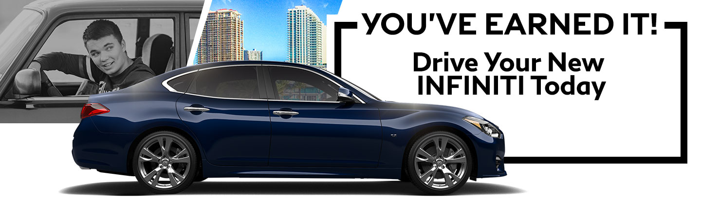 You've earned it! Drive your new INFINITI today