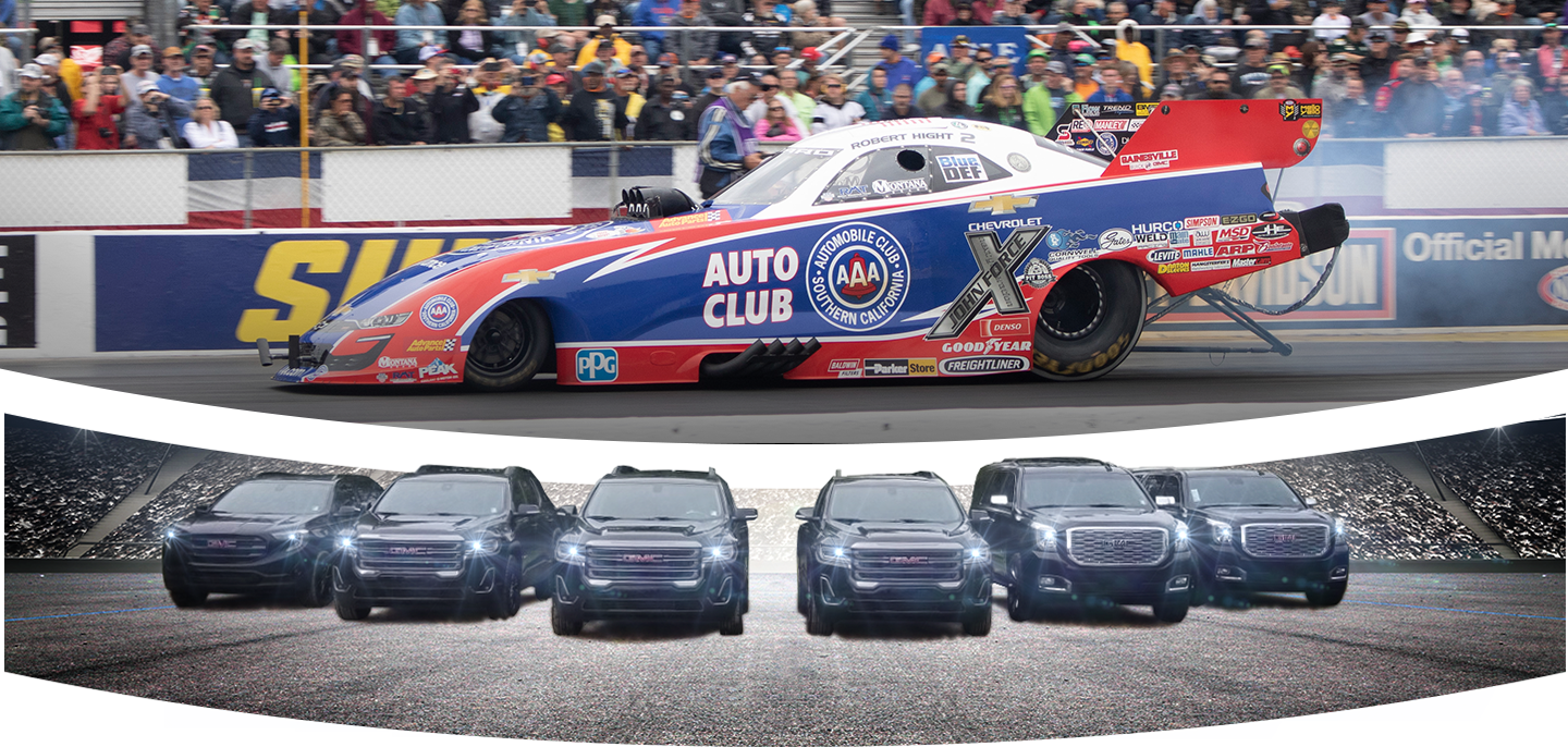Auto Club Race Car and GMC Lineup