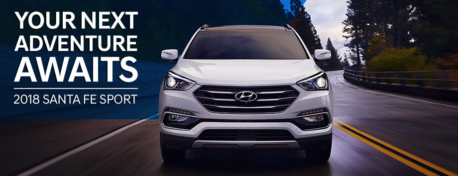 The 2018 Santa Fe Sport is available at Springfield Hyundai near Philadelphia, PA