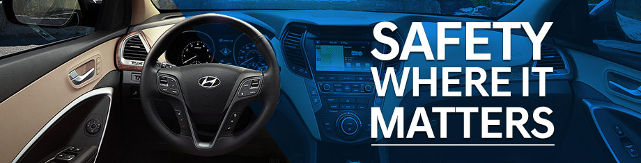 Safety features and interior of the 2018 Santa Fe Sport - available at Springfield Hyundai in Springfield, PA near Philadelphia, PA