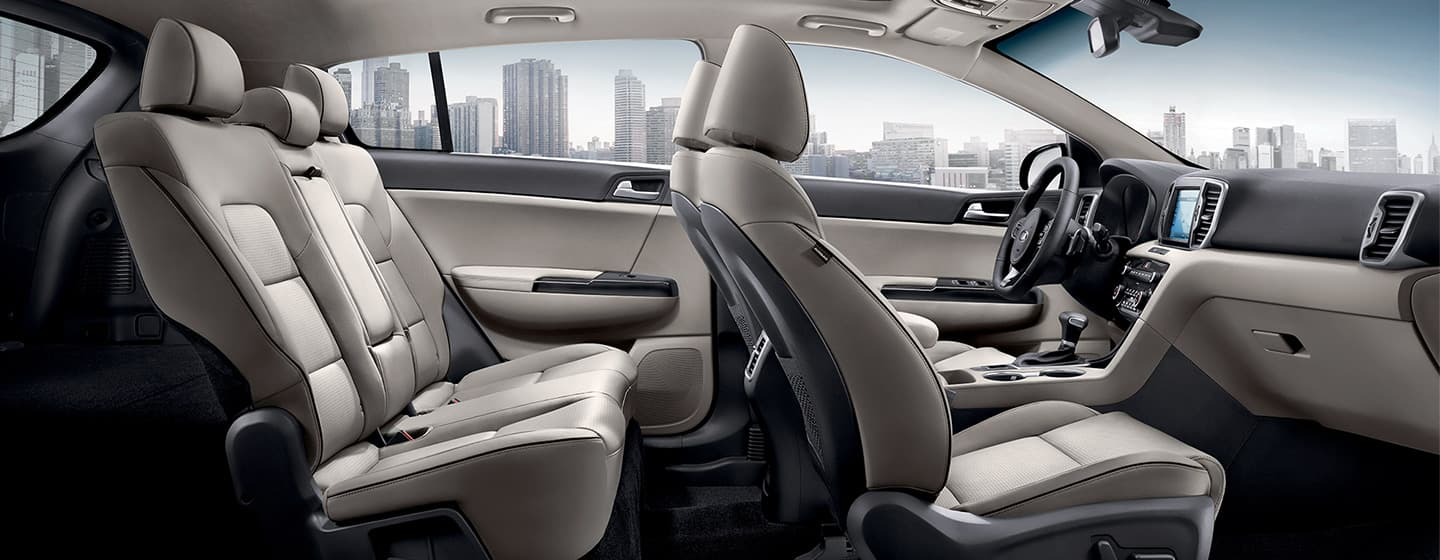 Safety features and interior of the 2019 Kia Sportage - available at our Kia dealership near Oklahoma City, OK.