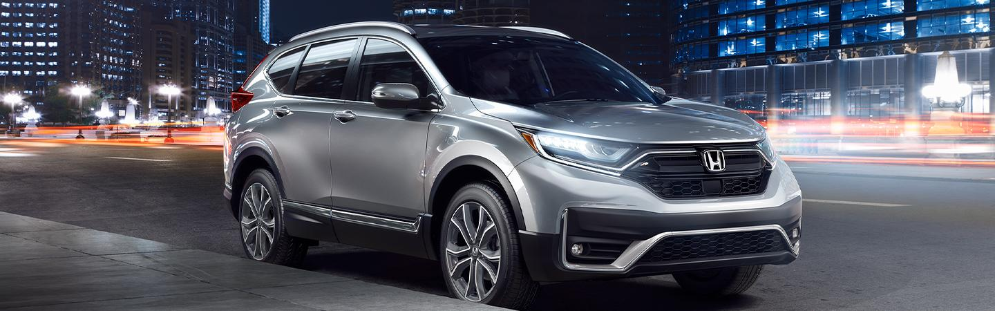 Front view of a Silver 2020 Honda CR-V