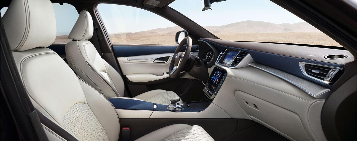 Front and passenger seating 2019 INFINITI QX50