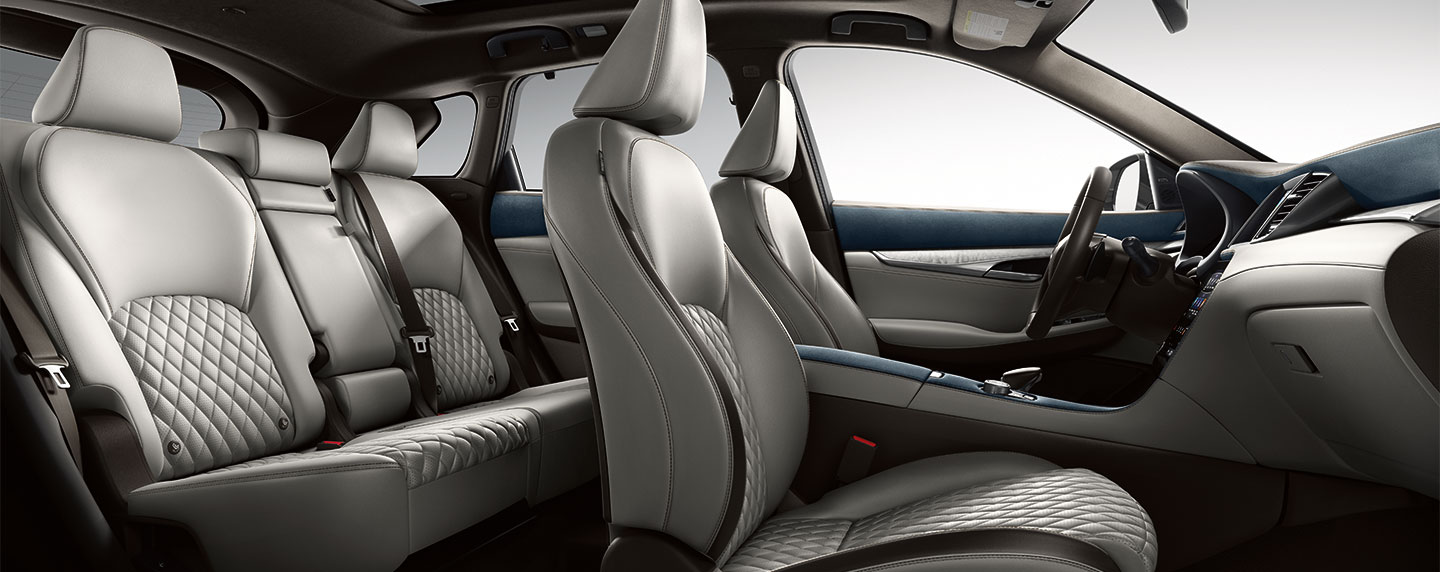 Seating of the 2019 INFINITI QX50