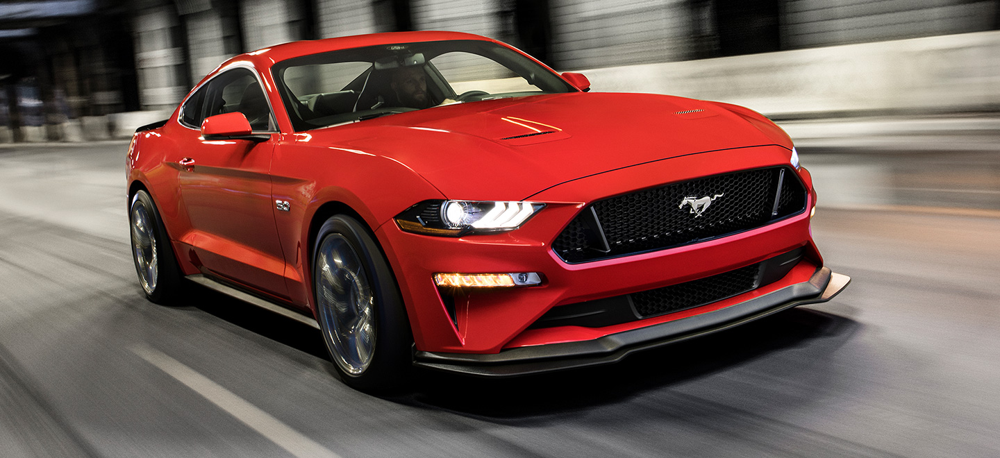 Exterior of a Ford Mustang, available at Bob Moore Ford in Oklahoma City, OK