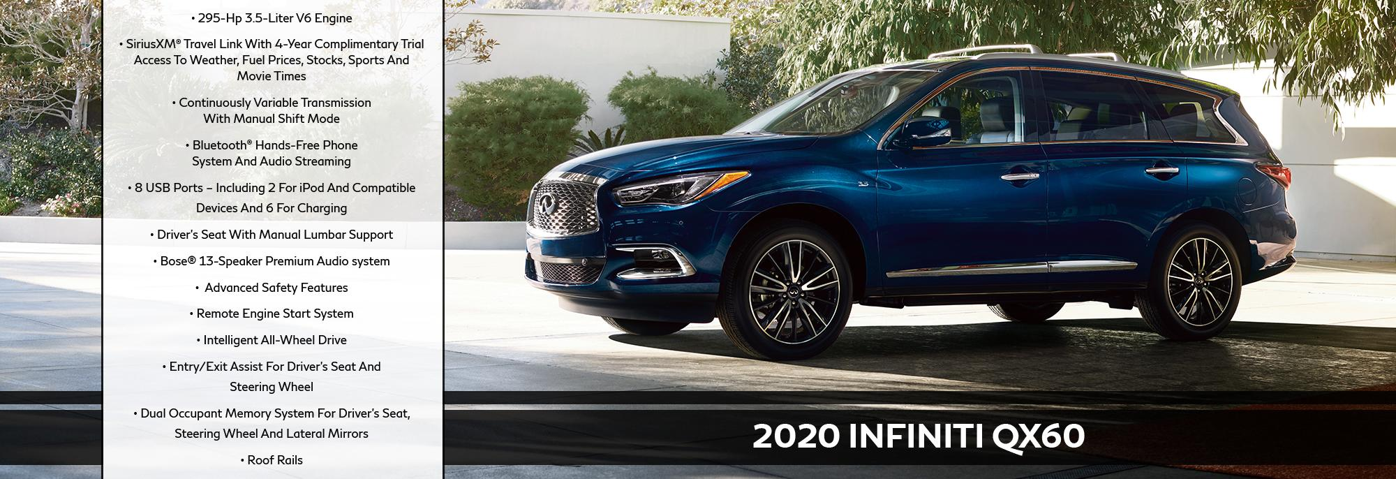 New 2020 INFINITI QX60 Offer