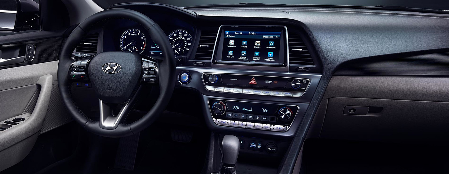 Interior of the 2019 Hyundai Accent for sale at our Hyundai dealership in Reno.