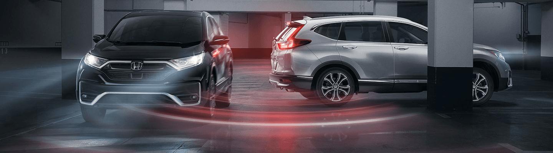 Two 2020 Honda CR-V's turning
