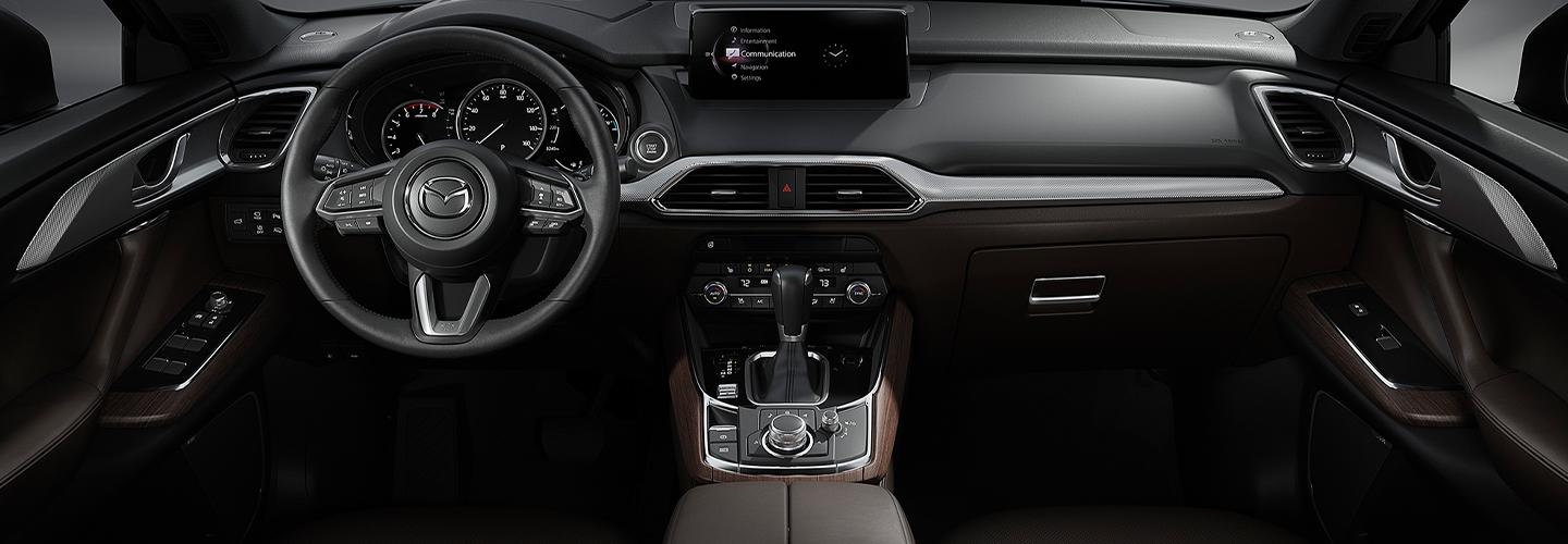 Full front interior view of the 2021 CX-9