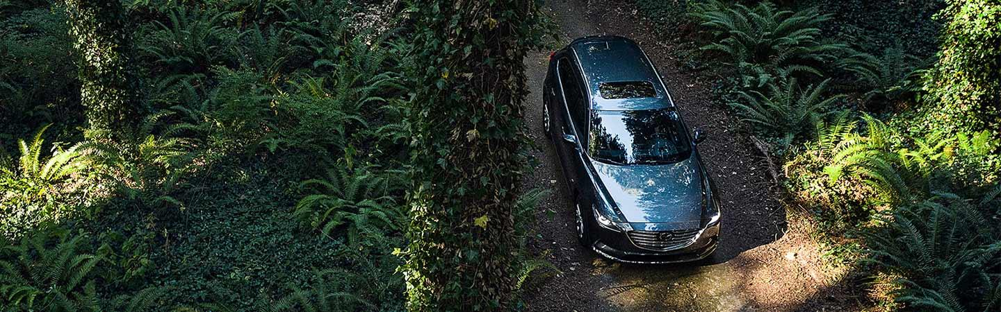 Aerial view of the 2021 CX-9