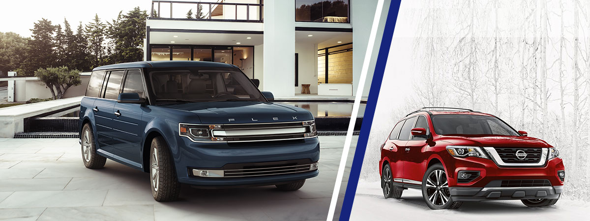 compare 2018 ford flex vs nissan pathfinder ford dealer in columbus. Black Bedroom Furniture Sets. Home Design Ideas