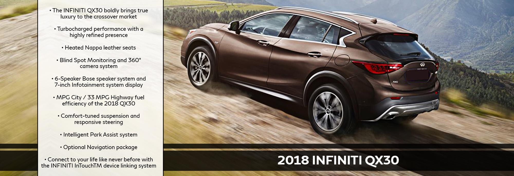 New 2018 INFINITI QX30 Offer