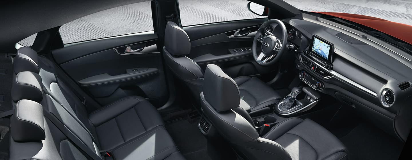 Safety features and interior of the 2019 Kia Forte - available at our Kia dealership near Oklahoma City, OK.