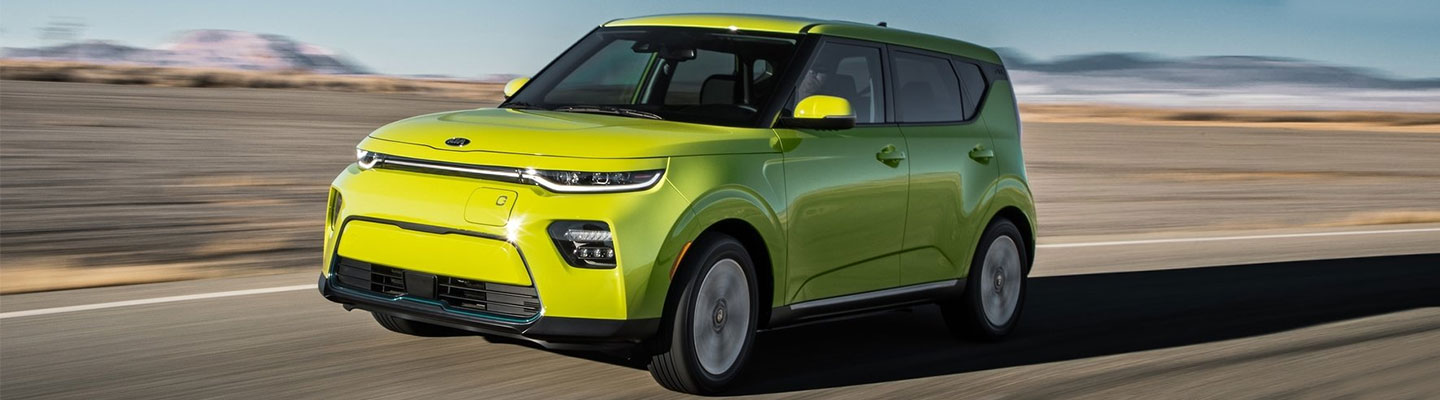 Picture of the 2020 Kia Soul EV at Spitzer Kia Cleveland.