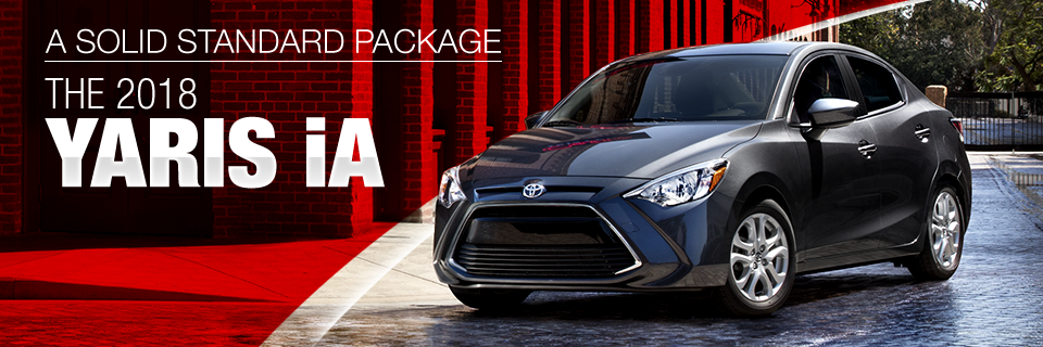 The Toyota Yaris iA is available at Toyota of Tampa Bay in Tampa, FL