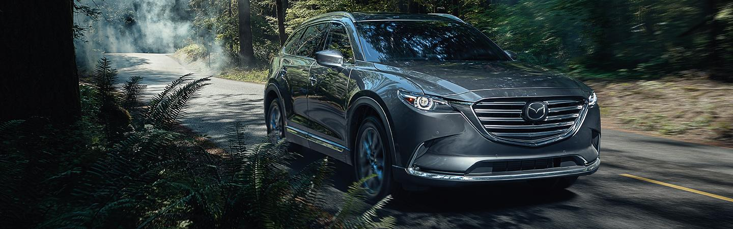 Front view of the grille from the 2020 Mazda CX-9