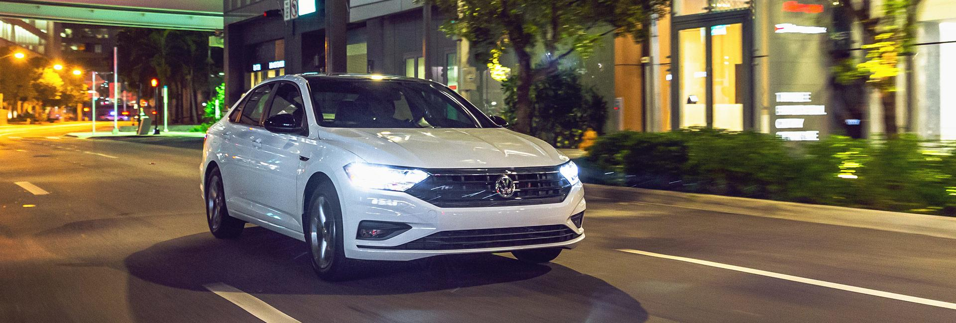 2020 Jetta in motion at night
