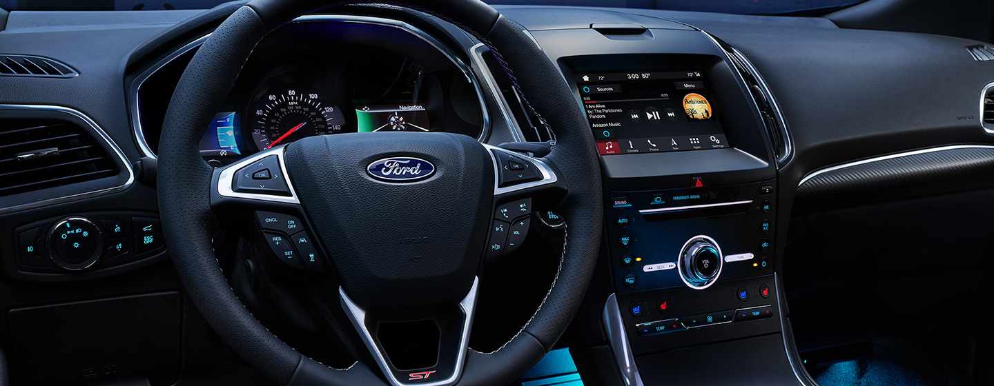 Safety features and interior of the 2019 Ford Edge - available at our Ford dealership near Oklahoma City, OK.
