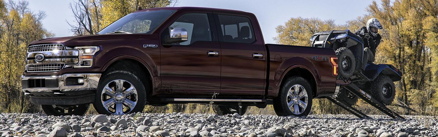2020 Ford F-150 parked on rocks