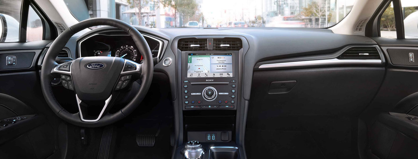 Safety features and interior of the 2019 Ford Fusion - available at our Ford dealership near Pittston, PA.