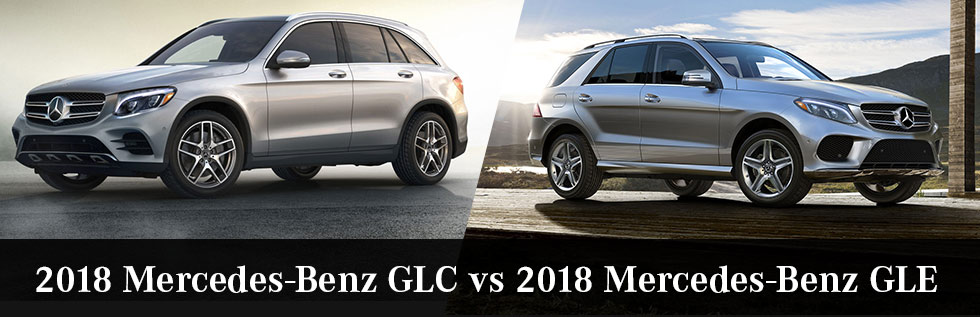 The 2018 Mercedes-Benz GLC and 2018 Mercedes-Benz GLE are available at Mercedes-Benz of Augusta in Augusta, GA